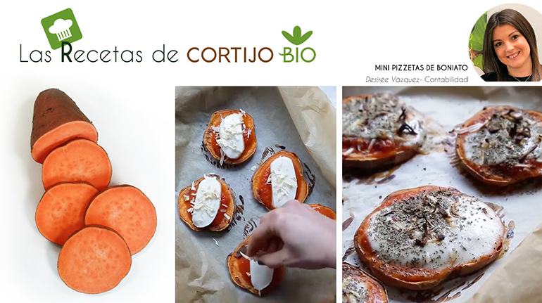 Mini pizzetas de boniato